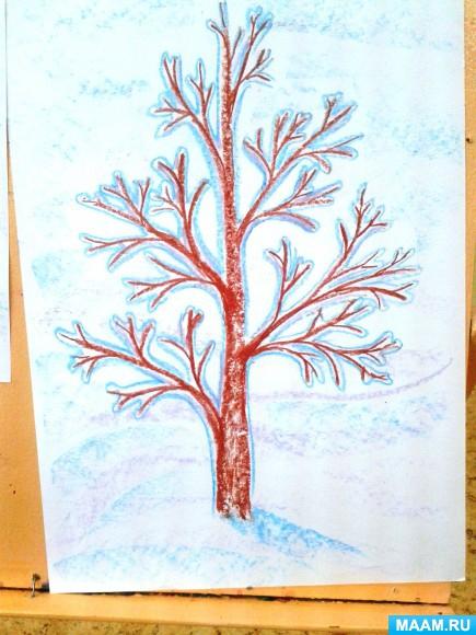 раскидистое дерево рисунок в средней группе известное фото сталина
